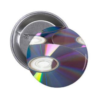 Glowing CD Pinback Button