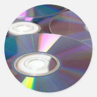 Glowing CD Round Sticker