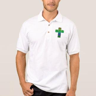 Glowing Celtic Cross Polo Shirt