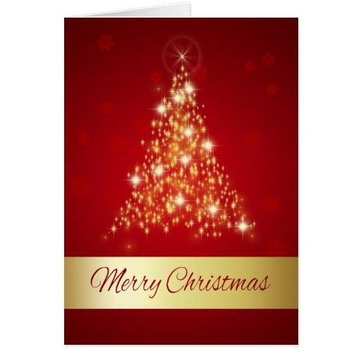 Glowing Christmas Tree - Greeting Card