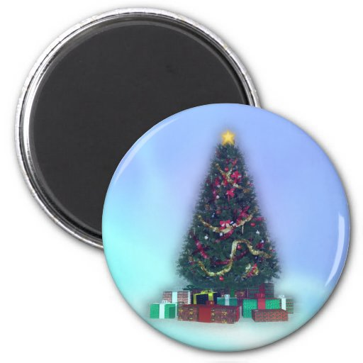 Glowing Christmas Tree: Refrigerator Magnets