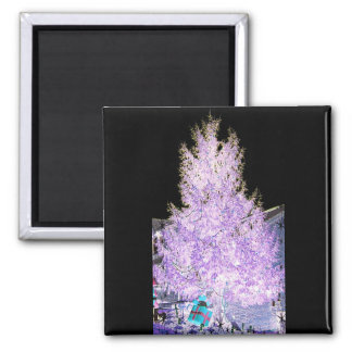 Glowing Christmas Tree themed Products Magnet