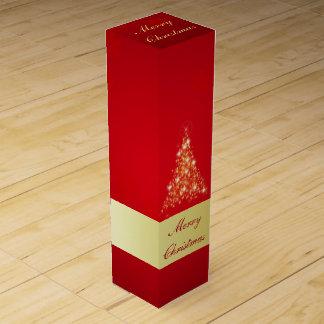 Glowing Christmas Tree - Wine Gift Box