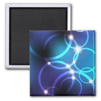 Glowing Circles Fridge Magnets