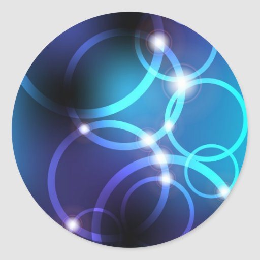 Glowing Circles Round Sticker