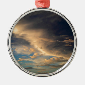 Glowing clouds Silver-Colored round decoration