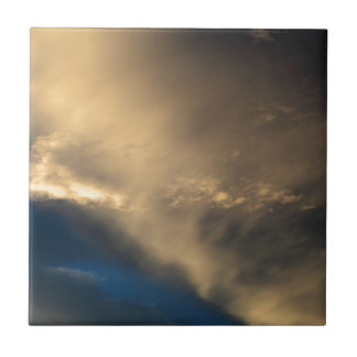 Glowing clouds small square tile