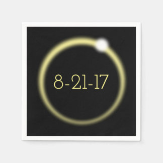 Glowing Corona Total Solar Eclipse 2017 Paper Napkin