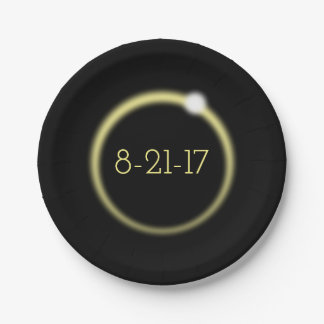 Glowing Corona Total Solar Eclipse 2017 Paper Plate