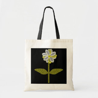 Glowing Daisy Flower Budget Tote Bag