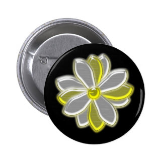 Glowing Daisy Flower Button