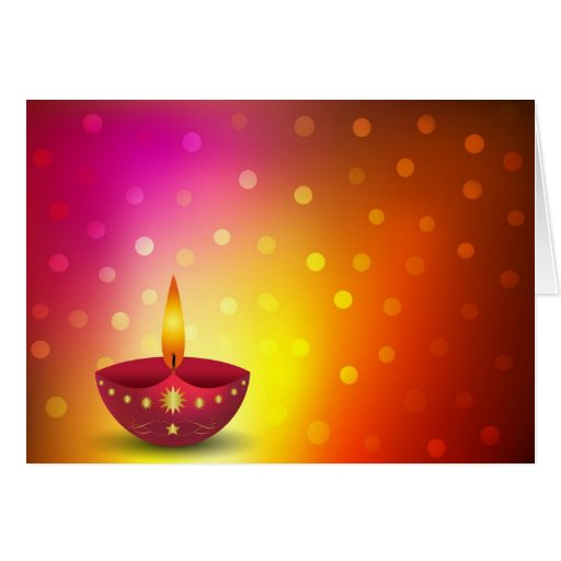 Glowing Decorative Diwali Lamp Cards