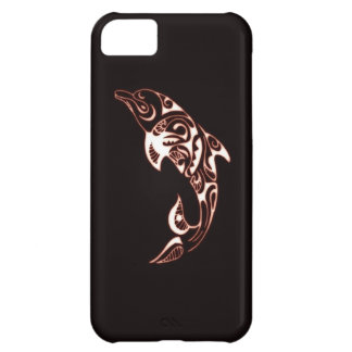 Glowing dolphin cover for iPhone 5C