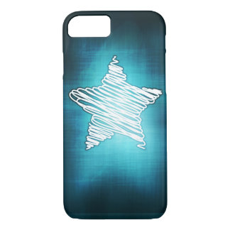 Glowing Doodled Star phone case