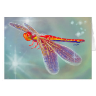 """Glowing Dragonfly"" Card"