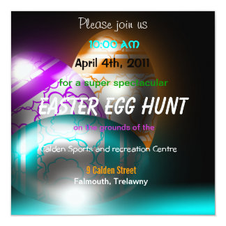 Glowing Easter Eggs Easter Egg Hunt Invitation