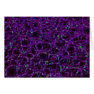 Glowing Edges Abstract Patterns Digital Art Blank Card