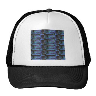 GLOWING Elegant Blue Crystal Decorations Mesh Hat