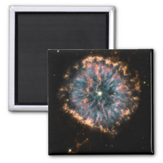 GLOWING EYE NEBULA (outer space design) ~ Square Magnet