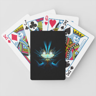 Glowing Eyes Alien Dragon Blue Bicycle Playing Cards