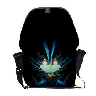 Glowing Eyes Blue Alien Commuter Bag