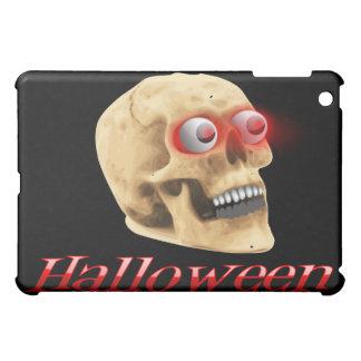 Glowing Eyes Halloween Skull iPad Mini Cover