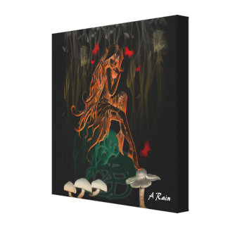 Glowing Fairy Stretched Canvas Prints