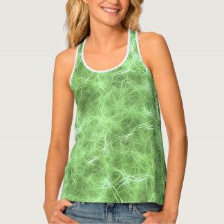 glowing fibers, green (I) Tank Top