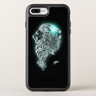 Glowing Fierce Lion OtterBox Symmetry iPhone 7 Plus Case