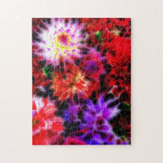 glowing flowers (C) Jigsaw Puzzle