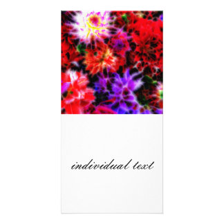 glowing flowers (C) Photo Greeting Card