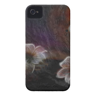 Glowing Flowers in Abstract Space iPhone 4 Case-Mate Cases