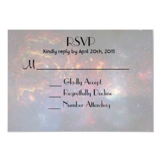 Glowing Galaxy in Outer Space RSVP 9 Cm X 13 Cm Invitation Card