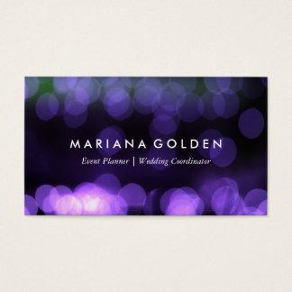 Glowing Glittering Bokeh Business Card