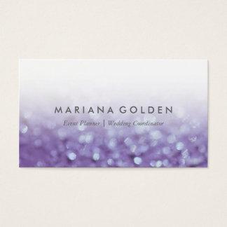 Glowing Glittering Bokeh   Glitter Business Card