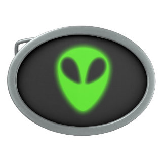 Glowing Green Alien Belt Buckle
