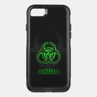Glowing Green Biohazard Symbol OtterBox Commuter iPhone 8/7 Case