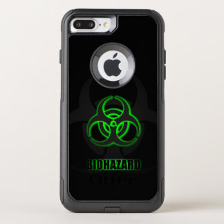 Glowing Green Biohazard Symbol OtterBox Commuter iPhone 8 Plus/7 Plus Case