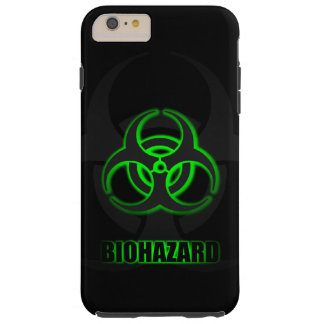 Glowing Green Biohazard Symbol Tough iPhone 6 Plus Case