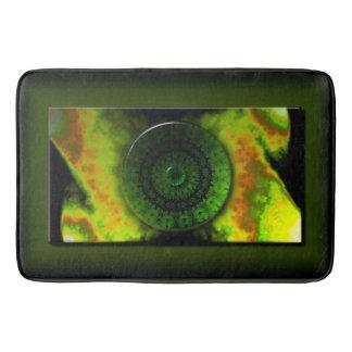 Glowing Green Luminosity Large Bath Mat