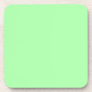 Glowing Green Solid Color Drink Coaster