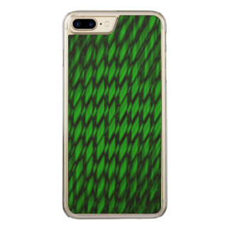 Glowing Green Tea Weave Carved iPhone 7 Plus Case