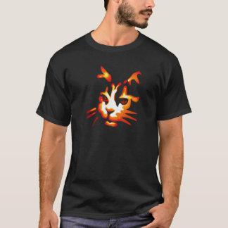 Glowing Halloween Cat Face T-Shirt