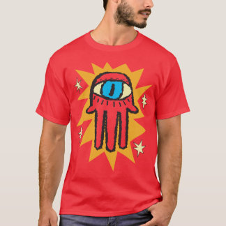 Glowing Hamsa Hand of God Evil Eye T-Shirt