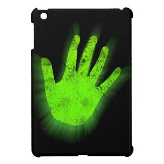 Glowing hand print. iPad mini case
