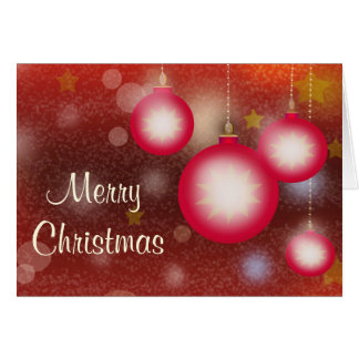 Glowing Hanging Christmas Ornaments Card