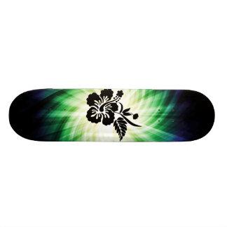 Glowing Hawaiian Flowers Skate Deck