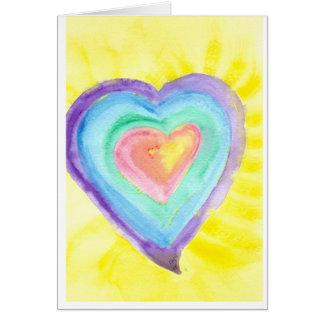 Glowing Heart Card