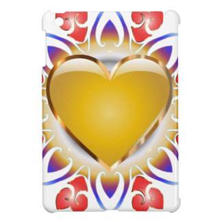 Glowing heart products. iPad mini cover