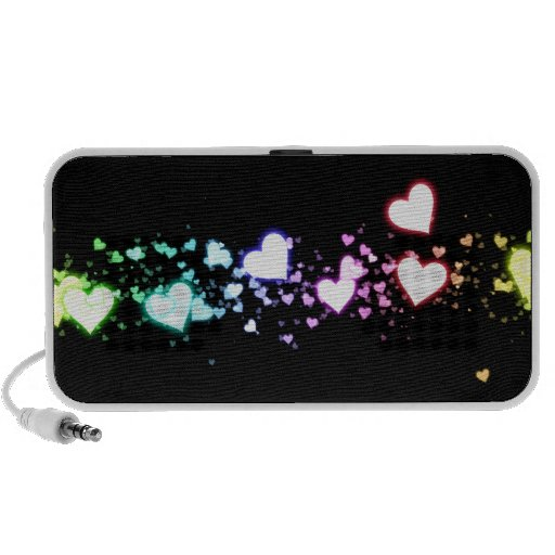 Glowing Hearts Laptop Speakers
